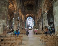 St Giles Cathedral em Edimburgo foto de stock