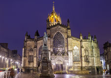 St Giles Cathedral em Edimburgo Foto de Stock Royalty Free