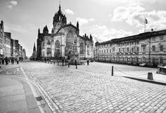St Giles Cathedral i Edinburg, Skottland Arkivbild