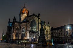 St Giles Cathedral at night in Edinburgh. Scotland Royalty Free Stock Photos