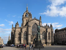 St. Giles Cathedral. And Royal Mile, Edinburgh Stock Photography