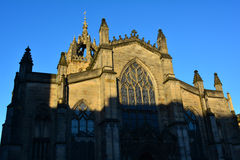 St Giles' Cathedral at sunset, Edinburgh, Scotland Stock Photos