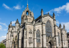 St Giles' Cathedral at sunset, Edinburgh, Scotland. St Giles' Cathedral, more properly termed the High Kirk of Edinburgh, is the principal place of worship of Royalty Free Stock Photography