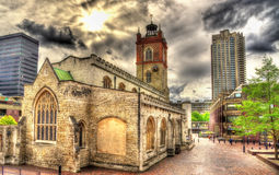St Giles-without-Cripplegate church in London Stock Photos