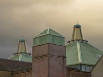St Giles, das neue Dach. Lizenzfreies Stockfoto