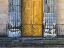 St Giles, die Türen. Lizenzfreies Stockfoto