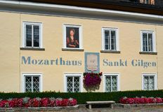 ST GILGEN, SALZBURG/AUSTRIA - 9月15日:Moza出生地  库存图片