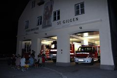 St. Gilgen, Austria: Fire team of the town of St. Gilgen royalty free stock image