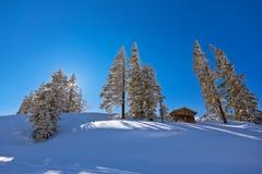 St Gilgen Autriche de station de sports d'hiver de montagnes Photo stock