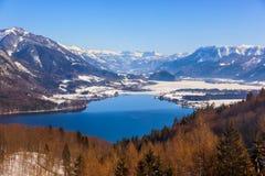 St Gilgen Autriche de station de sports d'hiver de montagnes Images stock