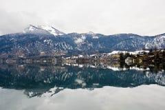 St Gilgen del lago e del villaggio Wolfgangsee in alpi austriache Fotografia Stock Libera da Diritti