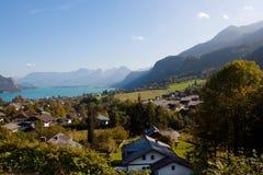 St Gilgen, montagne e lago immagine stock libera da diritti