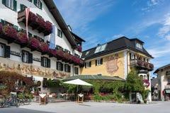 ST. GILGEN, SALZBURG/AUSTRIA - 15. SEPTEMBER: Ansicht von einem Guesthou Lizenzfreie Stockfotografie