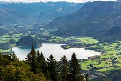 ST GILGEN, SALZBURG/AUSTRIA - SEPTEMBER 15: Sikt av Countren Arkivbilder