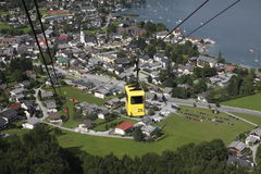 St. Gilgen seen from the cable car Royalty Free Stock Photos