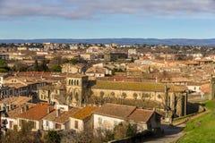 St Gimer教会在卡尔卡松,法国 免版税库存照片