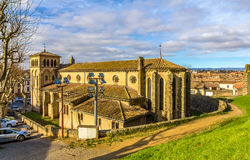 St Gimer教会在卡尔卡松 库存图片