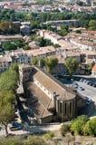 St Gimer's Church Carcassonne stock photo