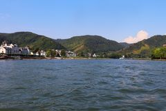 St. Goar and the Rhine River in Germany stock photos