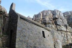St Govan的教堂 库存图片