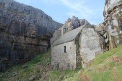 St Govan的教堂 免版税库存图片