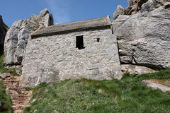 St Govans ruins in Pembrokeshire Royalty Free Stock Photo