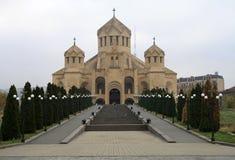 St Gregory собор иллюминатора, Ереван, Армения стоковое изображение rf
