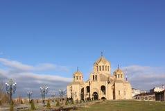 St Gregory собор иллюминатора, Ереван Армении стоковая фотография