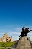 St Gregory собор иллюминатора, Ереван стоковое изображение rf