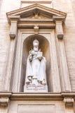 St Gregory статуя иллюминатора в Ватикане стоковое изображение
