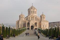 St Gregory illuminationsenheten Cathedral i Yerevan, Armenien arkivfoton