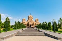 St Gregory illuminationsenheten Cathedral, Yerevan, Armenien fotografering för bildbyråer