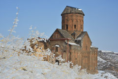 St Gregory kyrka i härlig vinterdag arkivfoton