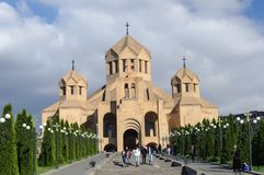 St Gregory Lusavurich Cathedral in Yerevan Royalty-vrije Stock Foto's