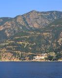 St Grigoriou het Klooster zet Athos Greece op stock afbeelding