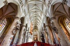 St Gudula大教堂,布鲁塞尔,比利时 免版税库存照片