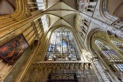 St Gudula大教堂,布鲁塞尔,比利时 库存图片
