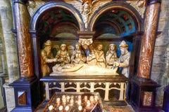 St Gudula大教堂,布鲁塞尔,比利时 免版税图库摄影