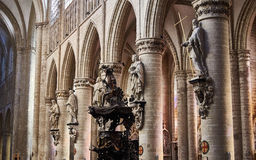 St Gudule and St  Michael's Cathedral in Brussels, Belgium Royalty Free Stock Photos
