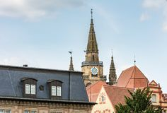 St. Gumbertus church in Ansbach Royalty Free Stock Images