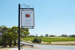 St Hallett winery sign, Barossa Valley. Stock Photo