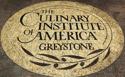 The Culinary Institute of America emblem in Napa Valley, California Stock Photo