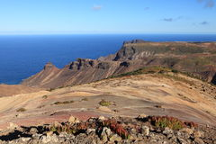 St Helena Island volcanic terrain afternoon light Royalty Free Stock Images