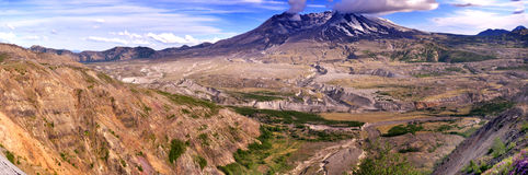 登上St Helens_active stratovolcano 库存图片