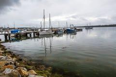 St Helens hamn, fjärd av bränder, Tasmanien Arkivfoton