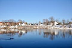 St-Henry de Lévis, rio Etchemin, Quebeque, Canadá Imagens de Stock