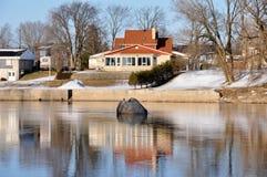 St-Henry de Lévis, rio Etchemin, Quebeque, Canadá Imagens de Stock Royalty Free