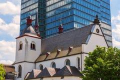 St Heribert in Colonia, Germania della chiesa alt Fotografia Stock Libera da Diritti