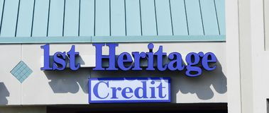 1st Heritage Credit. Union provides credit cards, mortgages, commercial banking, auto loans, investing & retirement planning, checking and business banking Royalty Free Stock Images