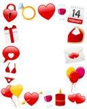St. het Frame van de Foto van de valentijnskaart Stock Foto's